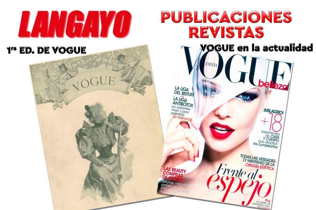 La portada de la primera revista de Vogue en comparación con una publicación actual