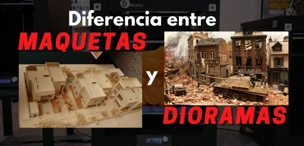 diferencia entre maquetas y dioramas