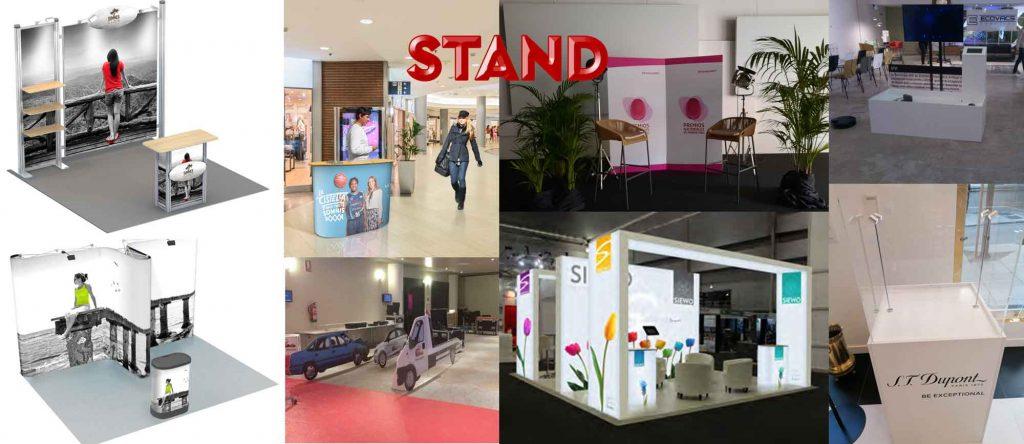 Tipos de stands, para ferias, punto de venta, muebles...