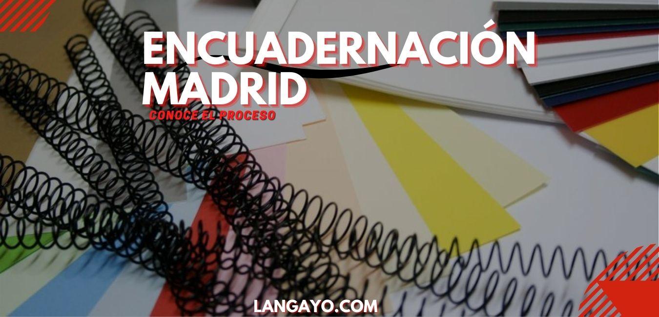 Encuadernación Madrid