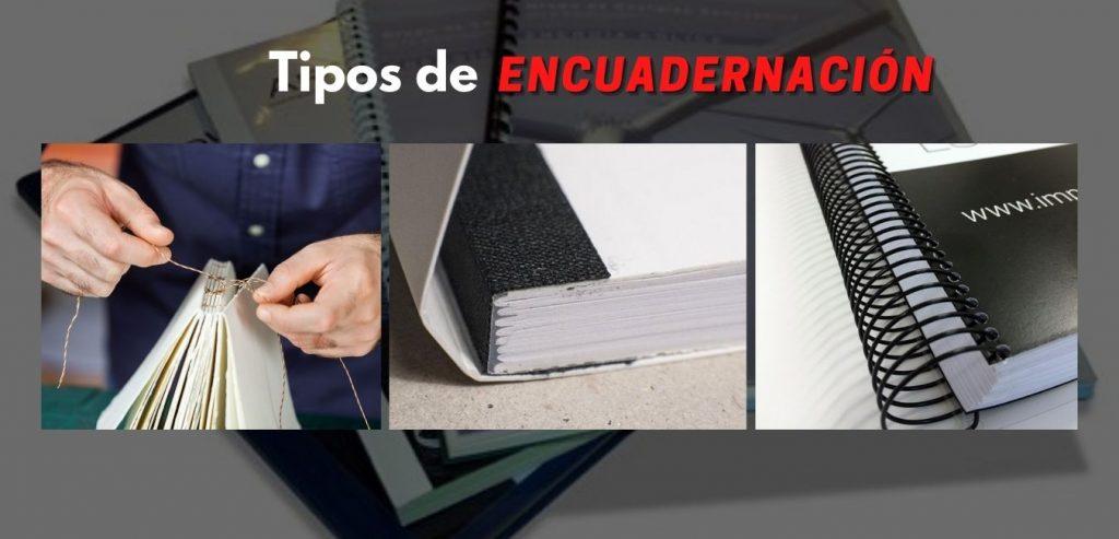 Tipos de Encuadernación Madrid