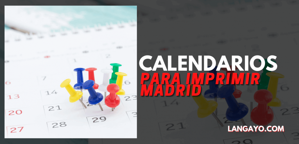 Calendarios Para Imprimir Madrid