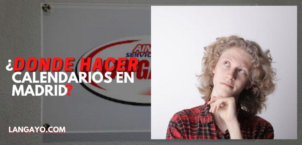 Servicios de Langayo Calendarios Personalizados Madrid